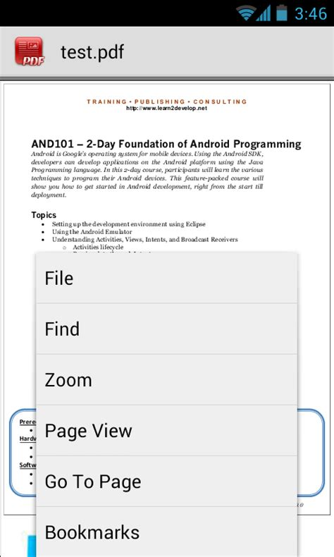 pdf viewer for android android create own pdf reader