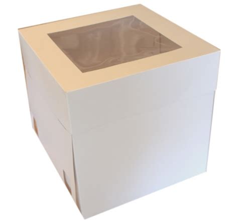 cake boxes with window cake box 10 quot with window 25cm