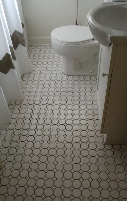 what kind of grout for bathroom floor more tile octagon and dot dark grout house