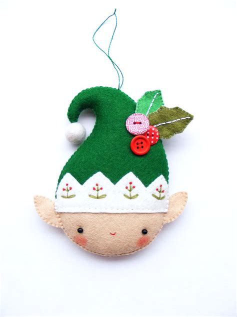 christmas decorations pattern felt ornaments by bigdreamsupply pdf pattern christmas elf felt christmas ornament