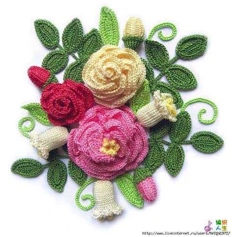 Handcraft Flower - crochet knitting handicraft flowers