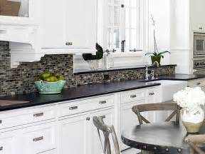 awesome Countertop Ideas For White Cabinets #1: White-Cabinets-Black-Countertop-Backsplash-Ideas.jpg