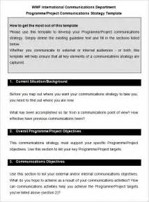 communication strategy template 10 communication strategy templates free word pdf