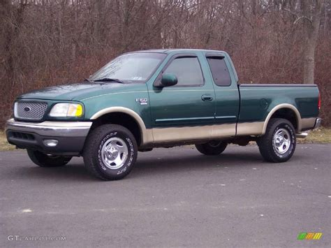 1999 woodland green metallic ford f150 xlt extended cab