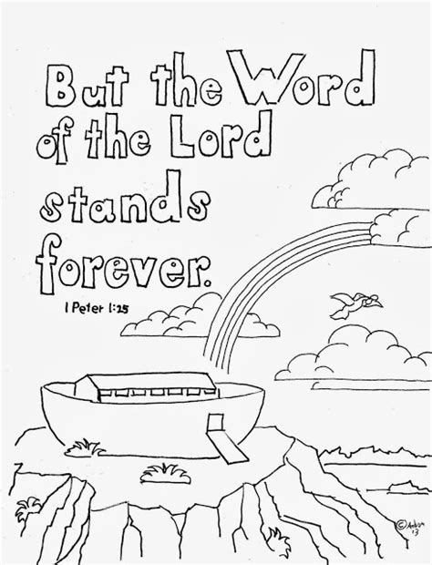 christian rainbow coloring pages a free coloring page for the bible verse 1 peter 1 25 find