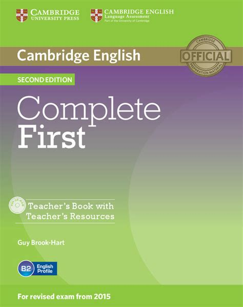 complete first for schools 1107640393 complete first 2nd edition teacher s book with teacher s resources audio cd cd rom by guy