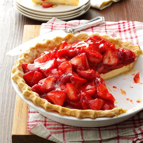 strawberry cheese pie recipe taste of home