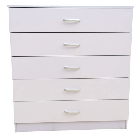 White Drawers by Chest Of Drawers 5 White Anti Bowing Drawer Support