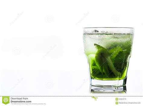 green cocktail black background green cocktail with kiwi slices stock photo image 64024170