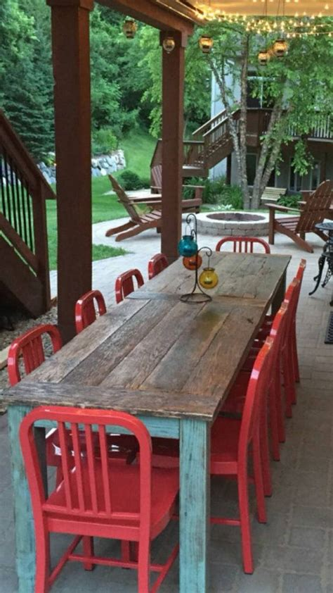 Farmhouse Patio Furniture by The 25 Best Patio Table Ideas On Diy Outdoor Table Outdoor Wood Table And Deck Table