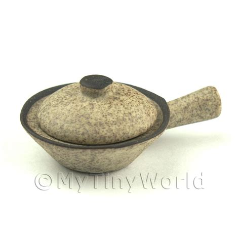 Handmade Wok - dolls house miniature ceramics dolls house miniature