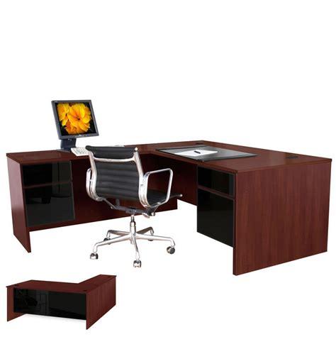 l shaped executive computer desk left return