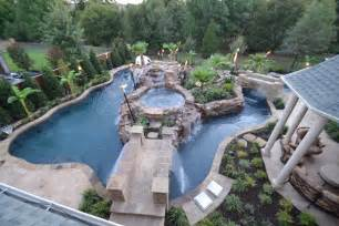 Big Backyard Pools Top View Large Backyard Lazy River Pool Design With Small Pool In The Middle With Waterfall Plus