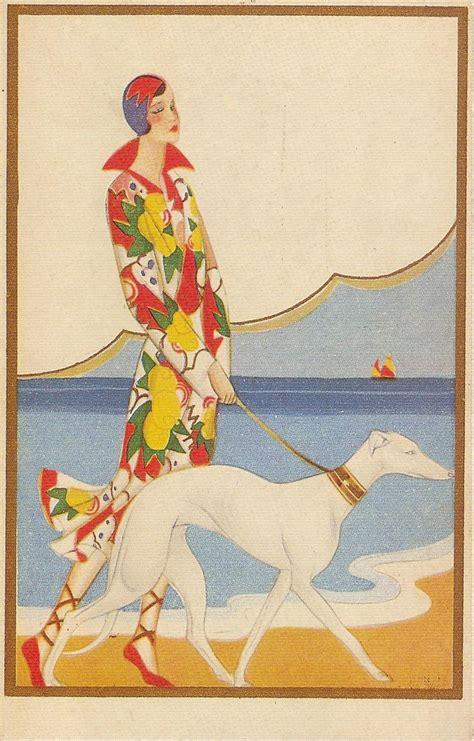 art deco art deco art deco postcard 1920s