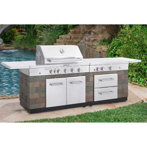 outdoor kitchen kitchenaid jenn air bbq island