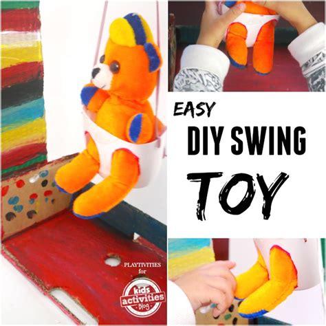 swing craft easy cardboard swing craft