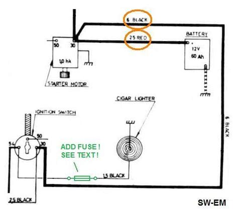 wiring diagram for car cigarette lighter choice image