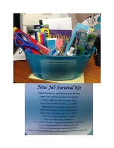 New job survival kit list just b cause