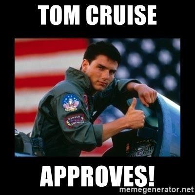 Tom Cruise Meme Generator - tom cruise approves top gun thumbs up meme generator