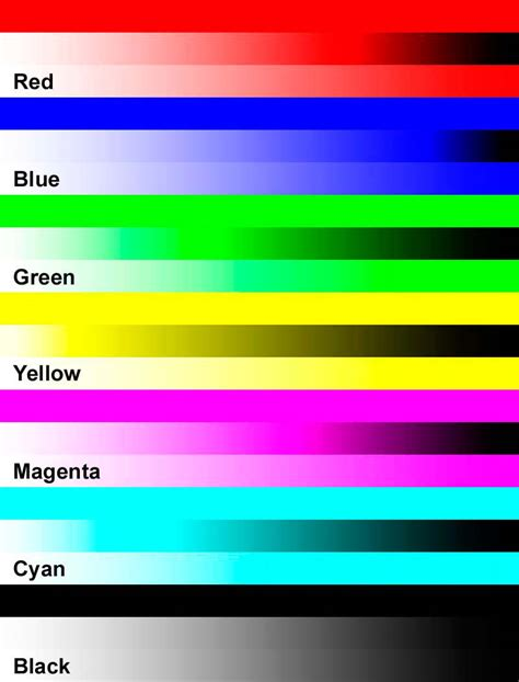 Color Printer Test Page Dark Brown Hairs Laser Printer Color Test Page