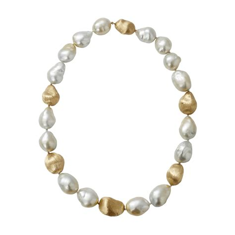 yvel baroque pearl necklace in white ylwgold lyst