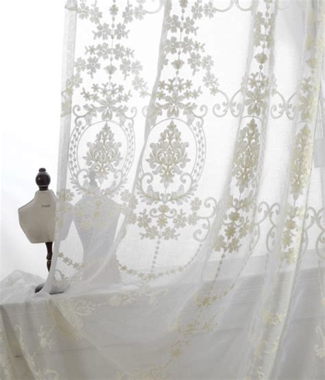 Made To Order Curtains A Pair Of White Sheer Curtains Made To Order Upto 104l