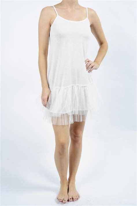 Dress Import 7453 tutu slip dress white by mystree mapel boutique portland your local boutique