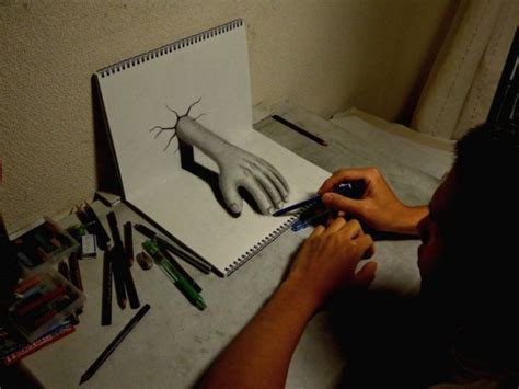 cool 3d pencil drawings cool 3d anamorphic pencil drawings by a young artist in