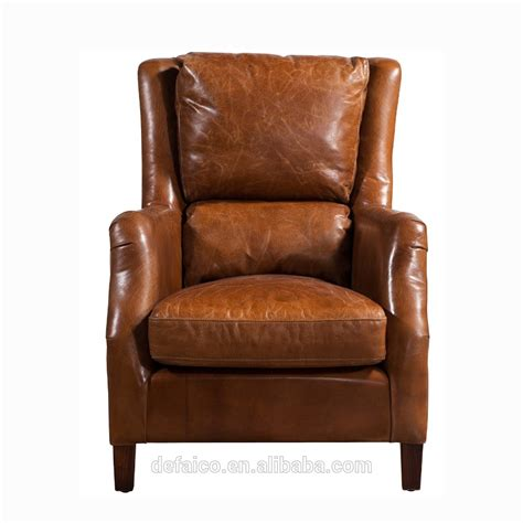High Back Armchair by Antique High Back Brown Leather Soft Cushions Armchair