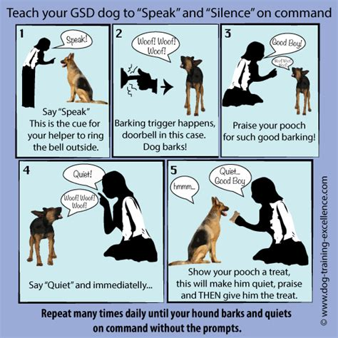 how to your to bark on command german shepherd barking curse or blessing