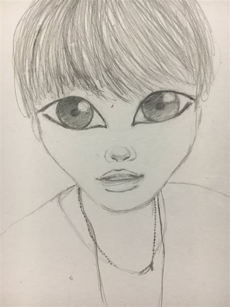 V Drawing Bts Easy by Kpop Drawings On Quot Picture Bts Btssuga