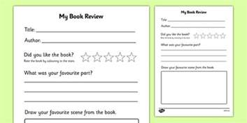 Book Review Template by Book Review Writing Frame Book Review Book Review Template