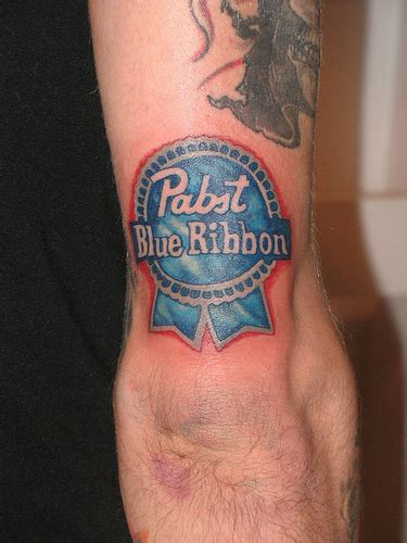 blue ribbon tattoo pabst blue ribbon logo www imgkid the image