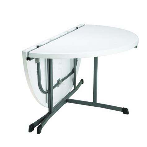 5 Ft Folding Table Lifetime 25402 Commercial Fold In Half Table 5 White Granite New Ebay