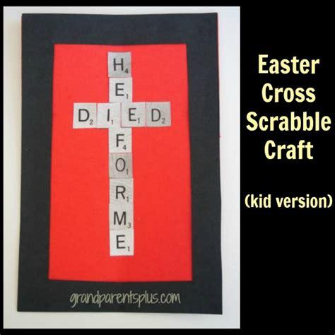 is ooze a scrabble word easter cross scrabble craft grandparentsplus