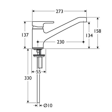 Kitchen Mixer Dimensions Ideal Standard Active Monobloc Kitchen Mixer