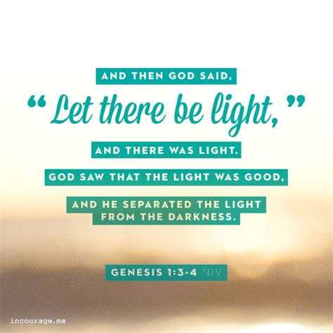 let there be light bible verse a sunday scripture in courage