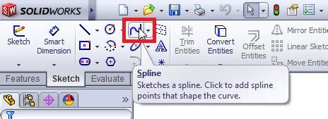 solidworks tutorial read only how to use solidworks spline sketch tool in solidworks cad