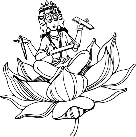 hindu gods pencil coloring pages