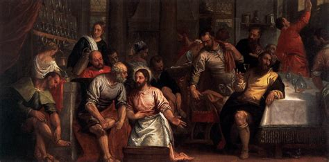 christ washing  feet   disciples  veronese paolo