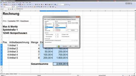 Rechnung Machen Englisch Einfache Rechnung Erstellen Mwst Mit Excel Oder Open Office Calc