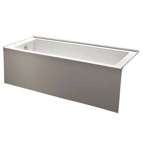 alcove whirlpool bathtub kingston brass contemporary 5 ft acrylic left hand drain