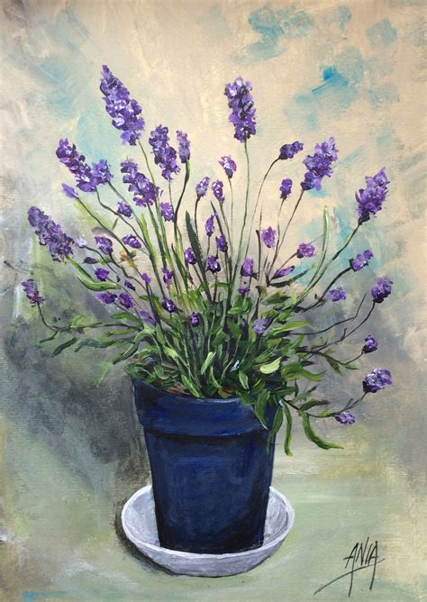 lavendar paint lavender original acrylic painting paint me a picture
