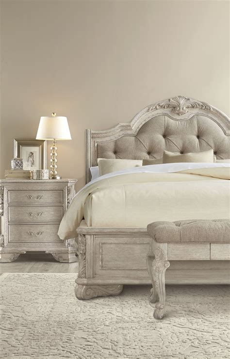 nelson grey queen sleigh bedroom set the furniture mart renaissance dove grey queen sleigh upholstered bed from