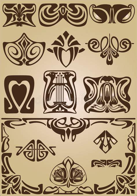 design elements of art nouveau art nouveau elements and corners design ornament stock