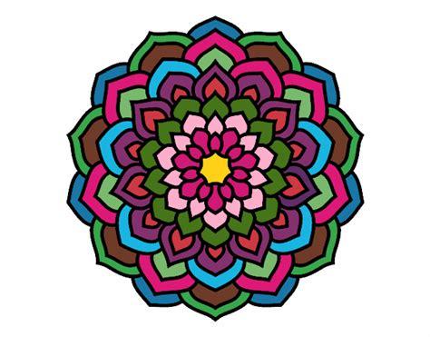 mandala coloring book hastings desenho de mandala p 233 talas de flores pintado e colorido