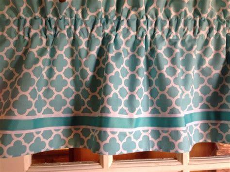 turquoise valance curtains turquoise aqua moroccan quatrefoil curtain valance custom