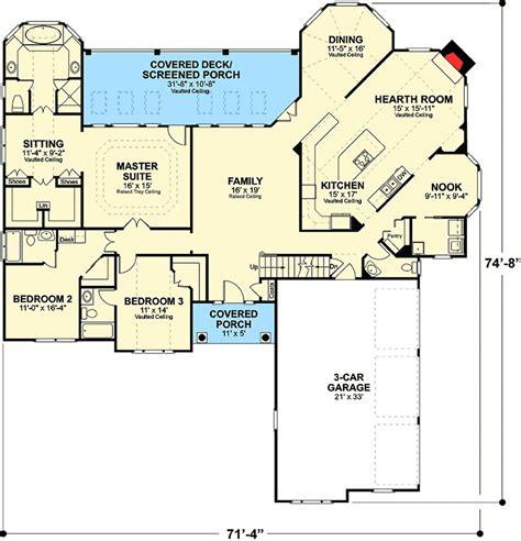 brick ranch house plan 68011hr 1st floor master suite classic brick ranch home plan 2067ga 1st floor master