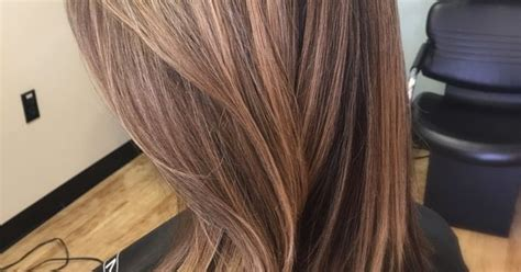medium length hairstyles brown with a partial highlights partial foil for brown hair blonde honey caramel