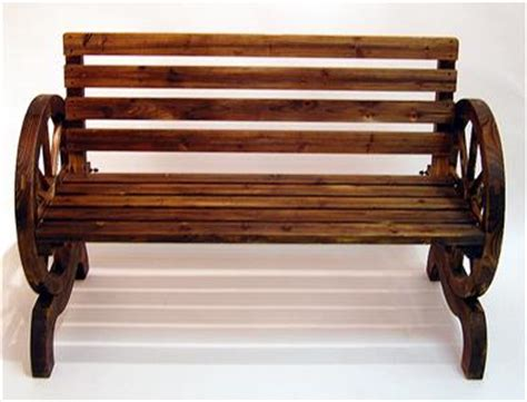 cartwheel garden bench burnt wood cartwheel garden bench outdoor garden decor 3
